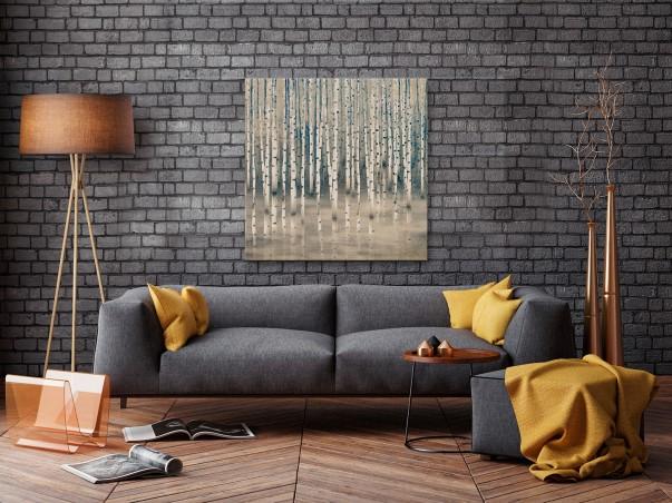 W półśnie - nowoczesny obraz do sypialni - 80x80 cm