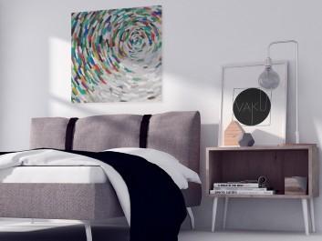 Alabastrowa tafla - nowoczesny obraz na płótnie - 80x80 cm