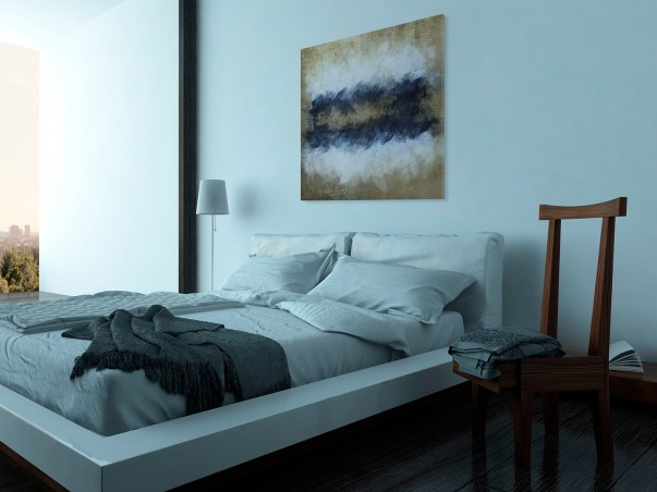 Sztorm - nowoczesny obraz na płótnie - 80x80 cm