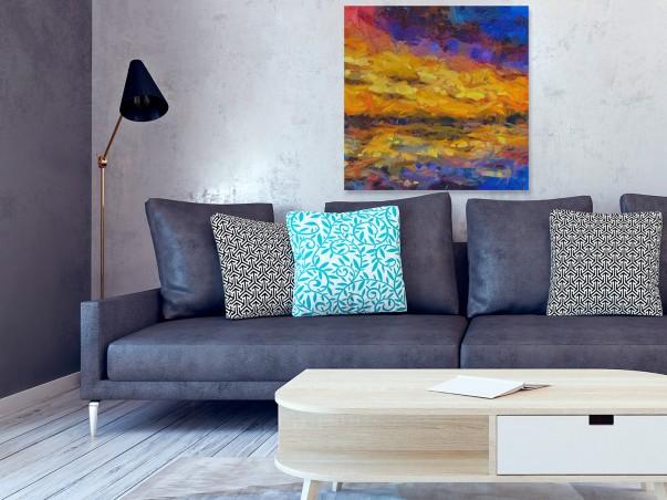 Przypływ o brzasku - nowoczesny obraz na płótnie - 80x80 cm