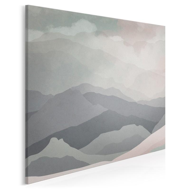 Wzgórza nadziei - nowoczesny obraz na płótnie - 80x80 cm