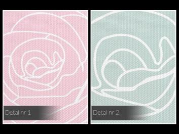 Ogrody różane - nowoczesny obraz na płótnie - 80x80 cm