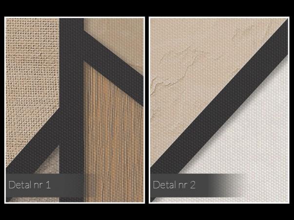 Modne beże, brązy i kremy - nowoczesny obraz na płótnie - 80x80 cm
