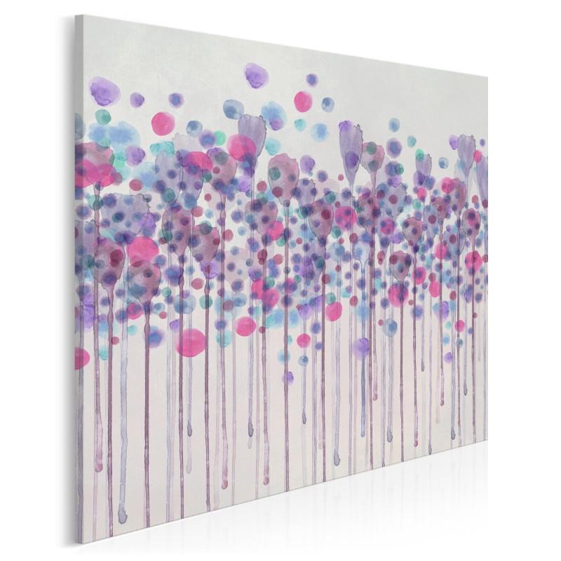 Kaligrafia mglistych wzruszeń - nowoczesny obraz na płótnie - 80x80 cm