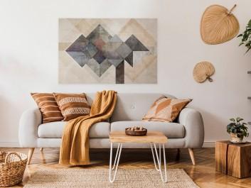 Molekuły szczęścia - nowoczesny obraz do salonu - 120x80 cm