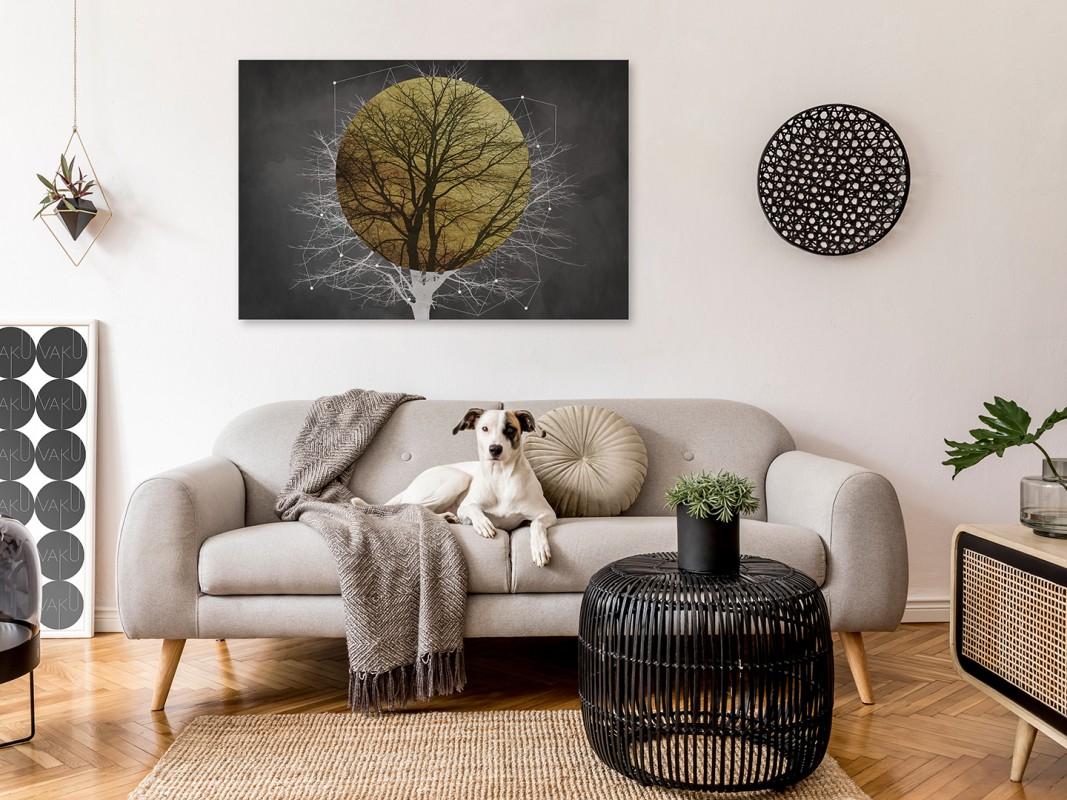 Zaćmienie słońca - nowoczesny obraz na płótnie - 120x80 cm