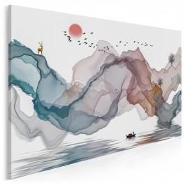 Skarbiec baśni - nowoczesny obraz na płótnie - 120x80 cm