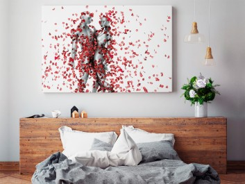 Strzała Amora - nowoczesny obraz do sypialni - 120x80 cm
