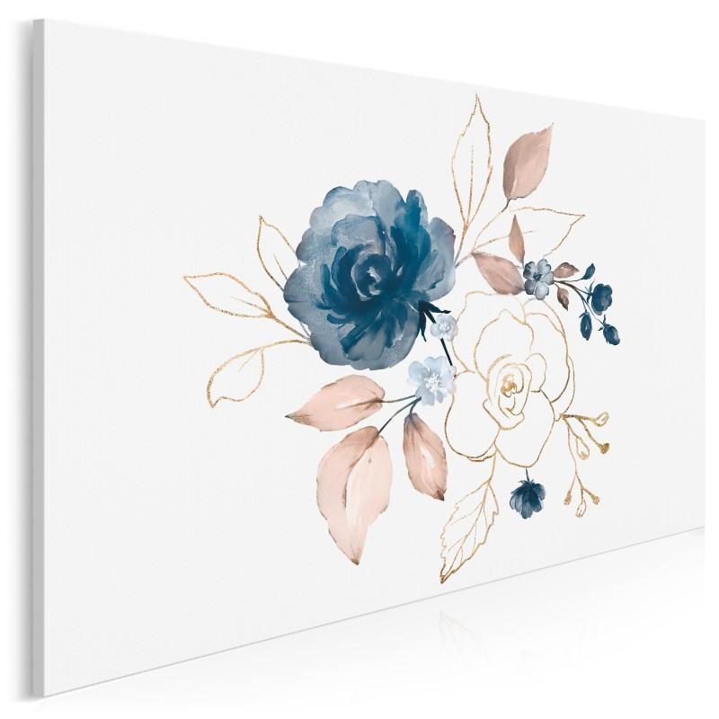 Pastelowa rosa - nowoczesny obraz do salonu - 120x80 cm