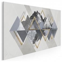 Złote góry - nowoczesny obraz na płótnie - 120x80 cm