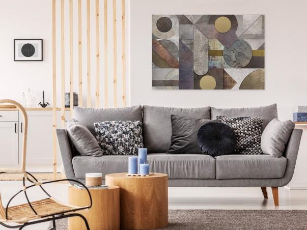 Egzaltacja przestrzeni - nowoczesny obraz na płótnie - 120x80 cm