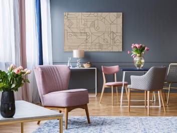 Tropem kodu Da Vinci - nowoczesny obraz na płótnie - 120x80 cm