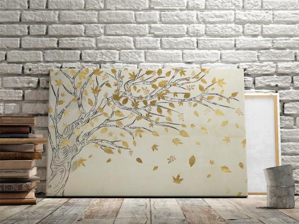 Leśna kołysanka - nowoczesny obraz na płótnie - 120x80 cm