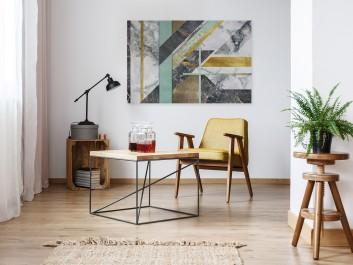 Status quo - nowoczesny obraz na płótnie - 120x80 cm