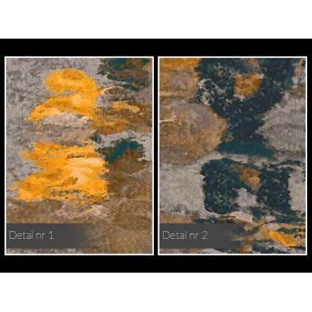 Odbicie słonecznego miasta - nowoczesny obraz na płótnie - 120x80 cm