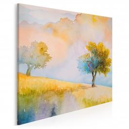 Jesienny sad - nowoczesny obraz na płótnie - 80x80 cm