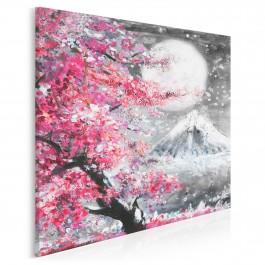 Święto Hanami - nowoczesny obraz na płótnie - 80x80 cm