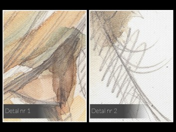 Przyjaźń czy kochanie? - nowoczesny obraz na płótnie - 80x80 cm