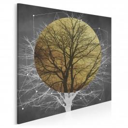 Zaćmienie słońca - nowoczesny obraz na płótnie - 80x80 cm