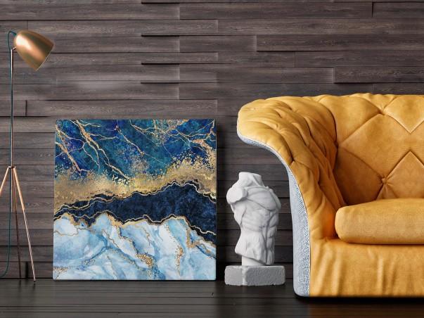 Rzeka życia - nowoczesny obraz do salonu - 80x80 cm