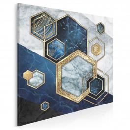 Szafirowy sygnet - nowoczesny obraz na płótnie - 80x80 cm