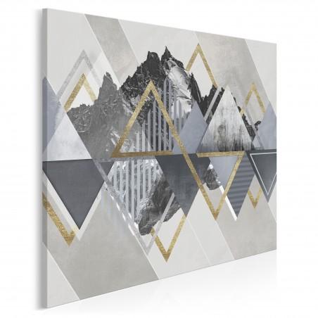 Złote góry - nowoczesny obraz na płótnie - 80x80 cm