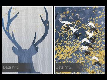 Królewskie poroże - nowoczesny obraz na płótnie - 120x80 cm