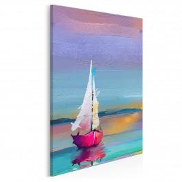 Zachód słońca na Mazurach - nowoczesny obraz na płótnie - 50x70 cm