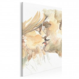 Przyjaźń czy kochanie? - nowoczesny obraz na płótnie - 50x70 cm