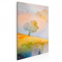 Jesienny sad - nowoczesny obraz na płótnie - 50x70 cm