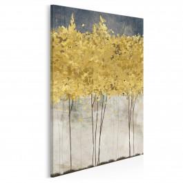 Złote żniwa - nowoczesny obraz na płótnie - 50x70 cm