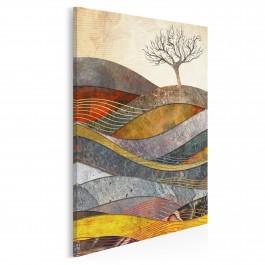 Wzgórze cudów - nowoczesny obraz na płótnie - 50x70 cm