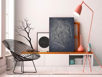 Tryb incognito - nowoczesny obraz na płótnie - 50x70 cm