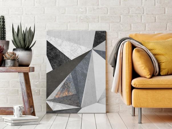 Betonowy las - nowoczesny obraz na płótnie - 50x70 cm