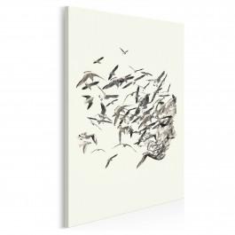 Uciekające myśli - nowoczesny obraz na płótnie - 50x70 cm