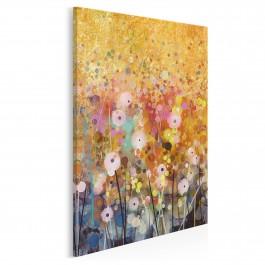 Florystyczna hegemonia - nowoczesny obraz do salonu - 50x70 cm