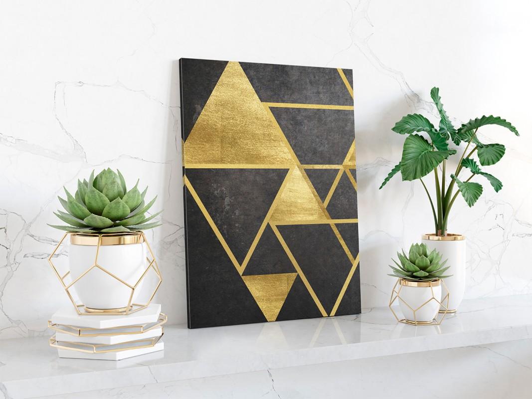 Szlachetny blask - nowoczesny obraz na płótnie - wariant 2 -50x70 cm