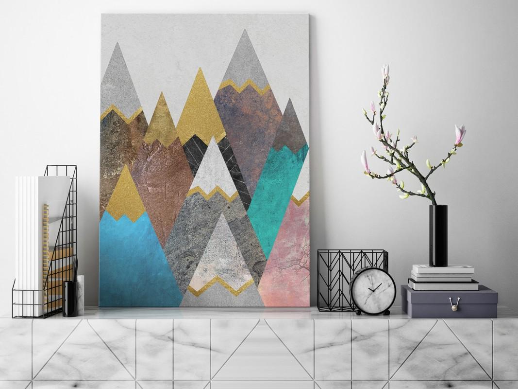 Lukrowe wierchy - nowoczesny obraz na płótnie - 50x70 cm