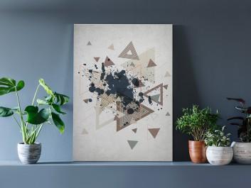 Dekonstrukcja - nowoczesny obraz na płótnie - 50x70 cm