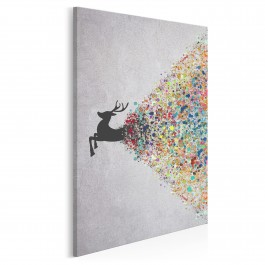 Gejzer ekspresji - nowoczesny obraz na płótnie - 50x70 cm