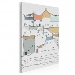 Zamki na piasku - nowoczesny obraz na płótnie - 50x70 cm