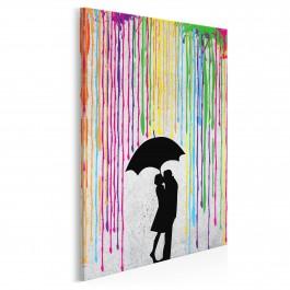 Miłosny skafander - nowoczesny obraz na płótnie - 50x70 cm