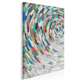 Alabastrowa tafla - nowoczesny obraz na płótnie - 50x70 cm