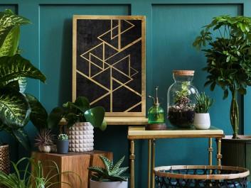 Szlachetny blichtr - nowoczesny obraz na płótnie - 50x70 cm