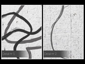 Pętla egzystencji - nowoczesny obraz na płótnie - 50x70 cm