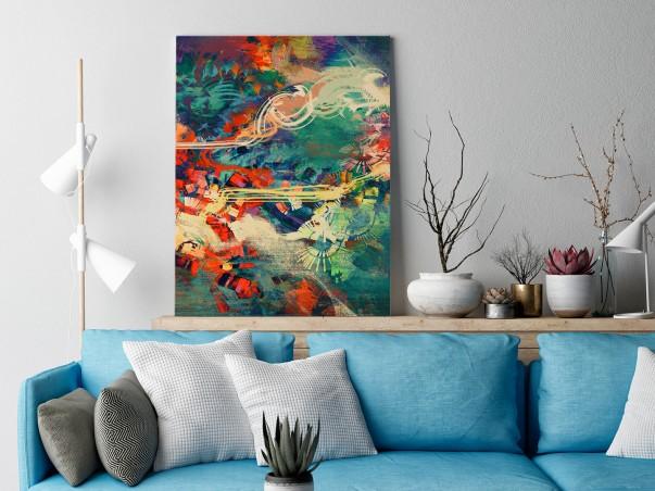 Archipelag marzeń - nowoczesny obraz na płótnie - 50x70 cm