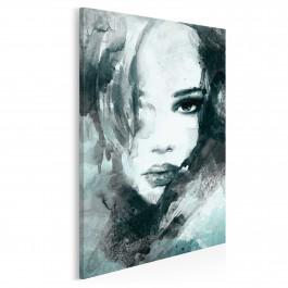 Dusza z antracytu - nowoczesny obraz na płótnie - 50x70 cm