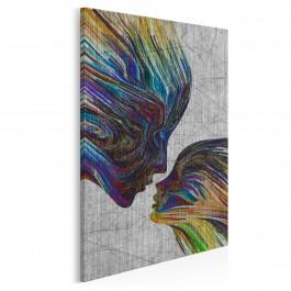 Taniec żywiołów - nowoczesny obraz na płótnie - 50x70 cm