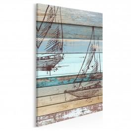 Wiatr w żagle - nowoczesny obraz na płótnie - 50x70 cm
