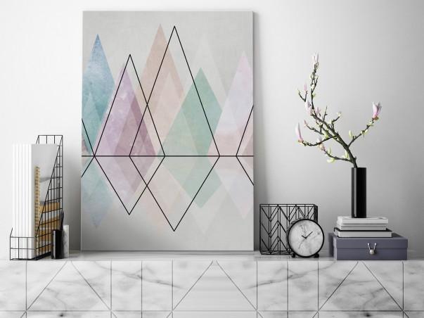 Diamentowy szlak - nowoczesny obraz na płótnie - 50x70 cm